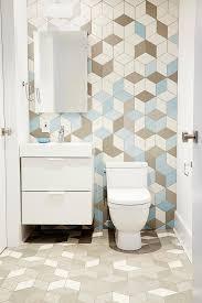 mid century modern bathroom wallpaper
