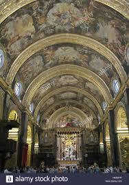 malta valletta st john u0027s co cathedral barrel vault visitor