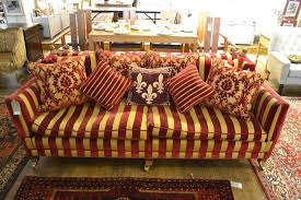 Regency Stripe Upholstery Fabric A Knowle End Three Seater Sofa Upholstered In A Regency Striped Fabric