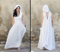 white maxi dress white linen dress linen maxi dress hooded dress white maxi