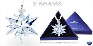 swarovski 2017 ornament snowflake gift box