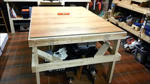 Woodworking Bench Top Surface by Laminate Flooring Workbench Youtube