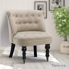 french provincial lorraine accent chair linen fabric taupe