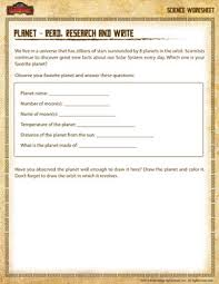 research a planet u2013 science printable for 3rd grade u2013 planet