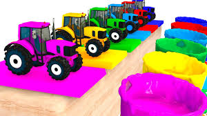 Best Color For Kids Colors For Kids With Tractors U0026 Cars 3d Superheroes For Babies