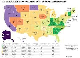 les bureaux de vote ferme a quel heure usa 2016 heures de fermeture des bureaux de vote etat par etat
