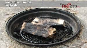 Fire Pit Logs by Round Steel Outdoor Log Grate By Premiere Fire Pits Youtube