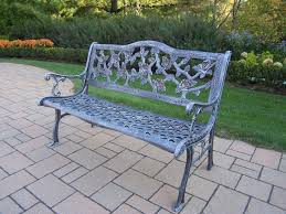 english rose cast aluminum bench multiple colors by oakland