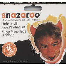 halloween and fancy dress make up little devil face painting kit