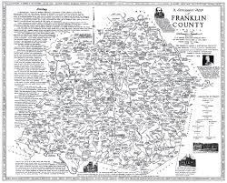 Virginia Map Counties by Map Showing Early Settlers Towns Rivers In Franklin Co Va