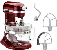 kitchenaid 6 qt 575 watt glass bowl lift stand mixer w flex edge
