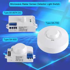 360 smart light switch radar microwave sensor motion detector for