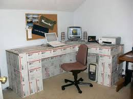 Diy Desk Ideas Cardboard Box Desk Boxes And Duct Well Then You Ve Got