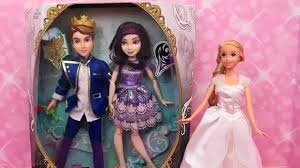 descendants disney play doh barbie wedding dress mal and ben
