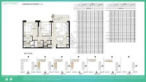 Apartment Block Floor Plans Views By Emaar 2 Bedroom Apartment 2a Floor Plan