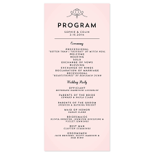 deco wedding program free exles of wording for wedding programs modern deco