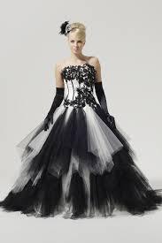 a black wedding gown
