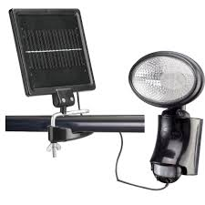 Outdoor Motion Sensor Light Home Depot - classy caps outdoor black solar motion sensor security light sl500