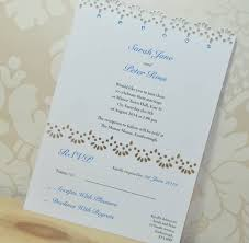 Wedding Invitations With Rsvp Cards Included Lace Laser Cut Wedding Invitation Rsvp By Sweet Pea Design