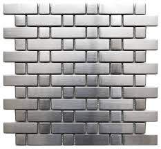 stainless steel mosaic tile backsplash brick and square pattern stainless steel mosaic tile