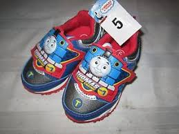 thomas the train light up shoes thomas friends boys tennis shoes light up size 5 train ebay