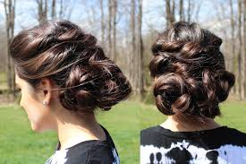 no heat casual formal updo twisted and braided bohemian hairstyle