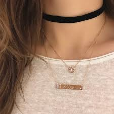 name neclace engraved name necklace ring concierge