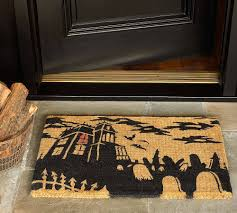 front porch creative front doormat design with colorful recycled