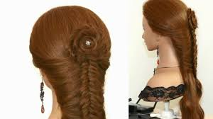 french fishtail braid with rose video dailymotion