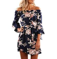 summer dress yieune summer dress shoulder dress sleeve floral