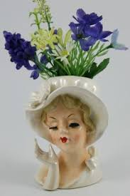 christmas lady head vases head vases pinterest vases and