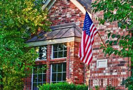 Flag Hanging American Flag Hanging On The Front Of The House Symonds Flags