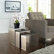 modway casper clear acrylic nesting tables 3 piece set hayneedle