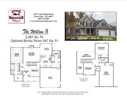 Garage Floor Plans With Bonus Room by Willow Ii First Floor Master Design Little Mountain Homes