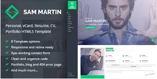 Resume Web Template 34 Best Vcard Html Website Templates 2017