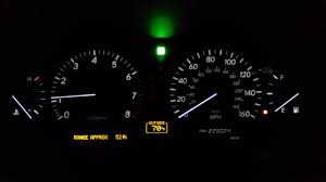 lexus es300 vsc and trac off light showing 2001 2002 2003 lexus ls430 speedometer cluster white led needle