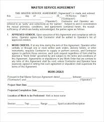 master service agreement 13 download free documents in pdf word