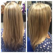 full blonde highlights lightly layered haircut my work
