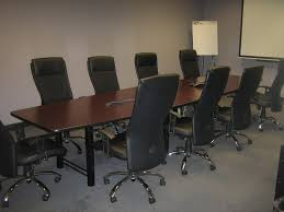 meeting table and chairs