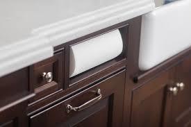 built in paper towel holder transitional kitchen dearborn