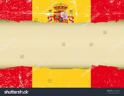 spain scratched flag spanish flag large stock vector 133706894