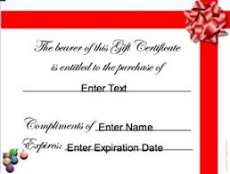 christmas gift certificates certificate creator