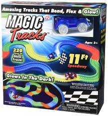 light up car track as seen on tv ontel magic tracks the amazing racetrack that can bend flex and