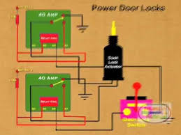 how to wire relay power door lock youtube