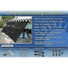 Best Way To Clean Rv Awning Amazon Com Rv Awning Shade Complete Kit 8 U0027x20 U0027 Black Sports