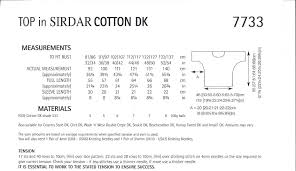 cotton dk knitting pattern 7733 top