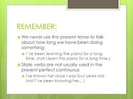 present perfect simple continuous ppt download
