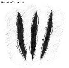 wolverine s claws how to draw wolverine claw marks drawingforall net