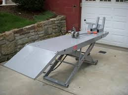 motorcycle lift table plans handy standard air motorcycle lift table harley davidson forums