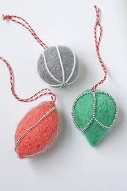 needle felt decorations diy tutorial